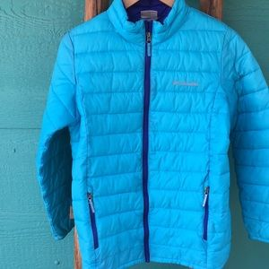 Kids Columbia Turquoise and Purple Jacket/…